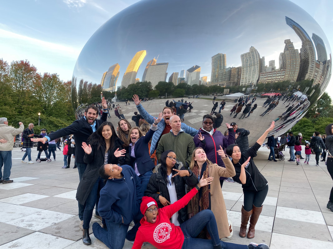 2019-2020 CSTA Equity Fellows in front of the Bean in Chicago